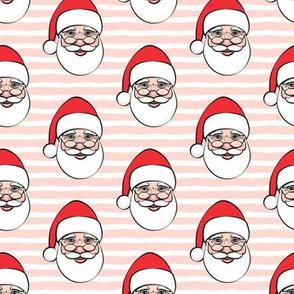 Santa Claus - pink stripes - Christmas