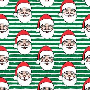 Santa Claus - green stripes - Christmas