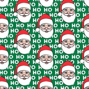 Santa Claus - green ho ho ho - Christmas