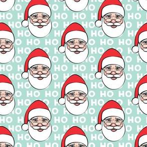 Santa Claus - aqua ho ho ho - Christmas