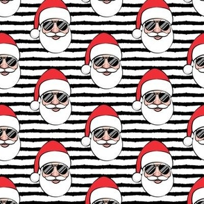 Santa Claus w/ sunnies - black stripes - Christmas
