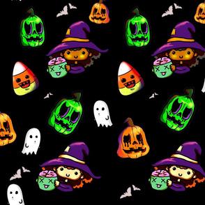 halloween witch black