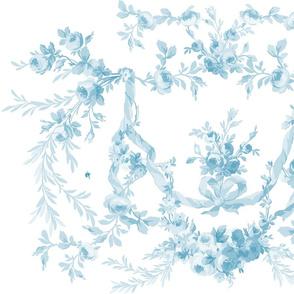Rococo Rose Swag Aqua