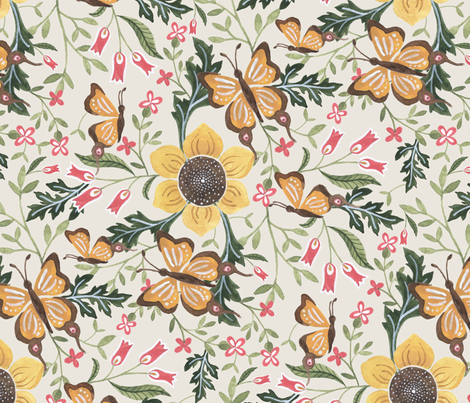 English Woodland fabric by laveroniquedesign on Spoonflower - custom fabric