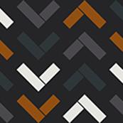 Abstract geometric tile 13