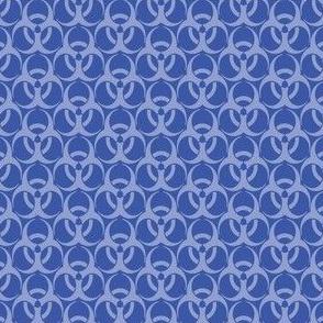 Medium Biohazard Trefoils Blue on Blue