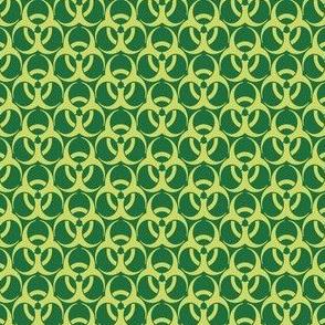 Medium Biohazard Trefoils  Yellow on Green