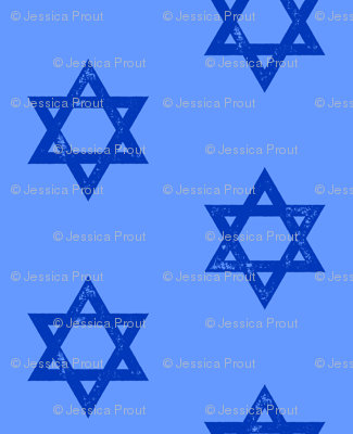 Star of David - blue on blue
