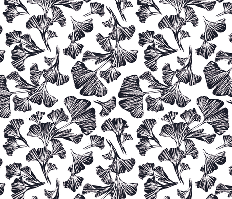 Ginkgo Toss fabric by shiny_penny_studio on Spoonflower - custom fabric