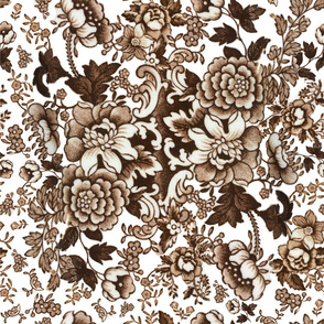 English Floral Brown2
