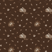 English Floral Brown3