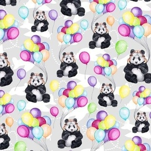 Aviator Panda with Extra Balloons