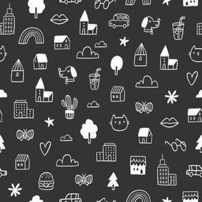 Random doodle pattern