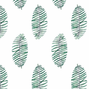 palm leaf simple repeat on white soft