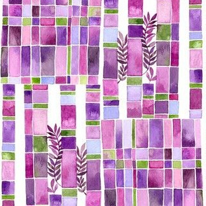 violet graden checker board pattern
