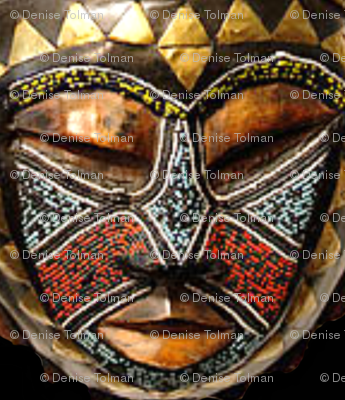 African Mask Gold Triangles Full