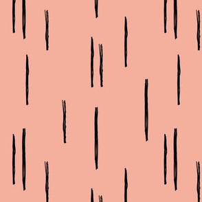 Minimal stripes grid strokes scandinavian abstract autumn pink design