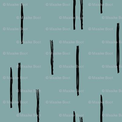 Minimal stripes grid strokes scandinavian abstract winter blue ice design