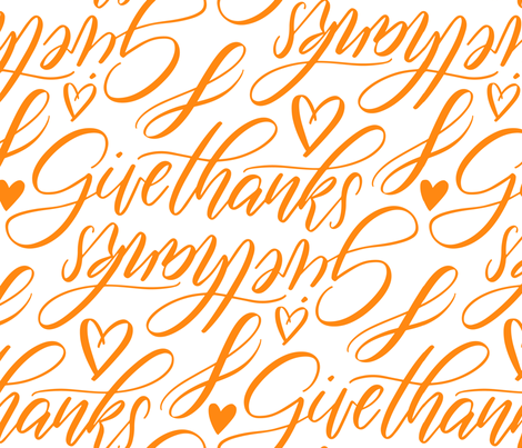 give_thanks_C04 fabric by enariyoshi on Spoonflower - custom fabric