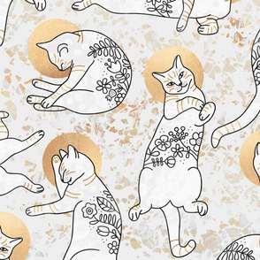 Floral Cats - Large