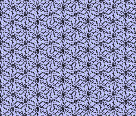 floral tessellation fabric by erin_mcclain_studio on Spoonflower - custom fabric