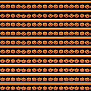 Spooky Orange Pumpkins