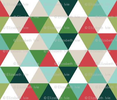 christmas triangles // micro print