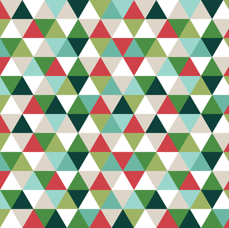 christmas triangles // micro print fabric by ivieclothco on Spoonflower - custom fabric