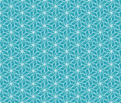 aqua tessellation fabric by erin_mcclain_studio on Spoonflower - custom fabric