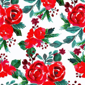merry and bright holiday floral
