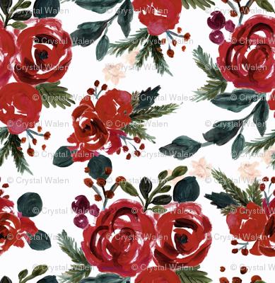 vintage holiday floral