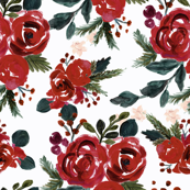 vintage holiday floral