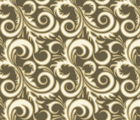 Beige plant fabric by elenashow on Spoonflower - custom fabric