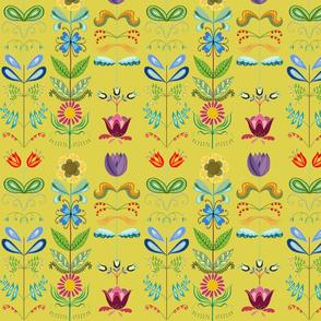 Scandinavian Floral Yellow