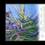 2019 Calendar Tea Towel | Iris | Artistic