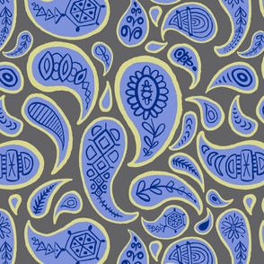 new paisley pattern GRAY blue off white navy -01