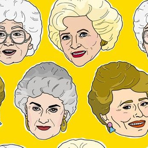 Golden Girls Illustration in Stay Golden Yellow
