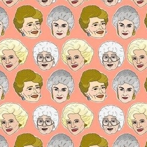 Golden Girls Illustration in Peach