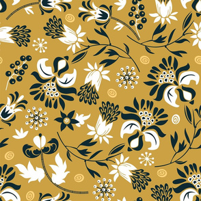 victorian floral | curry