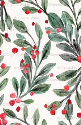 mistletoe and red berries