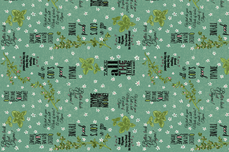 A Thyme for Puns fabric by salzanos on Spoonflower - custom fabric
