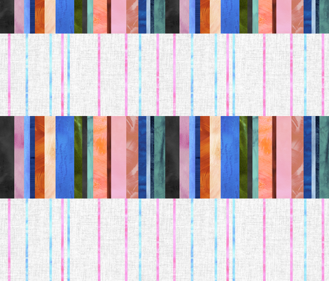Merri Stripe 01b horizontal fabric by schatzibrown on Spoonflower - custom fabric