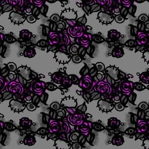 Pink Graffiti Roses