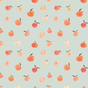 Peaches--Spoonflower--Sage