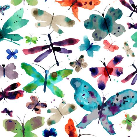 Butterflly Garden fabric by sarah_treu on Spoonflower - custom fabric