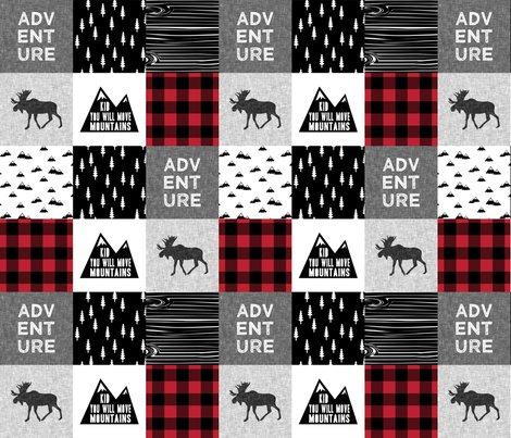 Rlittle-man-quilt-top-with-kid-you-will-move-mountains-monochrome-with-red-05_shop_preview