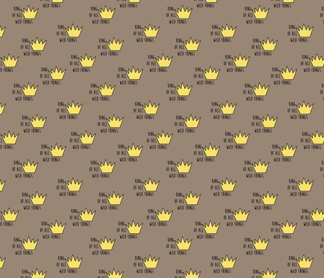 wild things toss small scale fabric by evirose_designs on Spoonflower - custom fabric