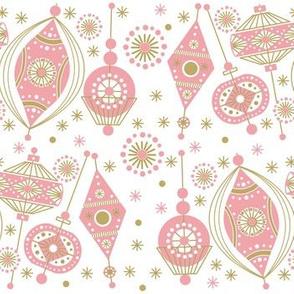 Atomic Christmas Ornaments Pink