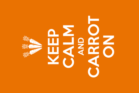 Carrot On Tea Towel fabric by lellobird on Spoonflower - custom fabric