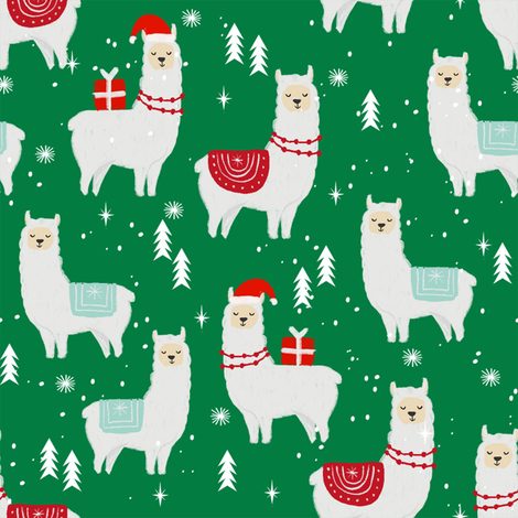 Llama Christmas.Winter Llama Christmas Holiday Xmas Llamas Cute